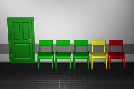 Concept - bureaucracy. 3D render.