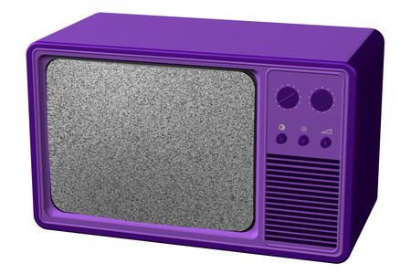 flick: Old tv, isolated on white background. 3D render. Stock Photo