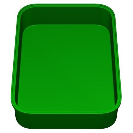 trough: Kitchen pan, isolated on white background. 3D render.