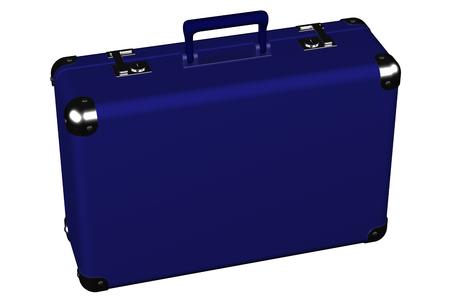 スーツケースは、白い背景で隔離。 3 D のレンダリング。 写真素材 - 53578841