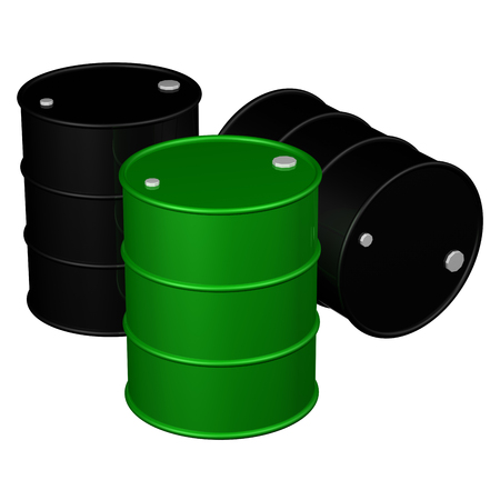 bl: Barrels, isolated on white background.  3D render. Stock Photo