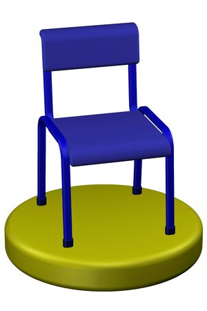 commercial activity: Office chair, isolated on white background. 3D render.