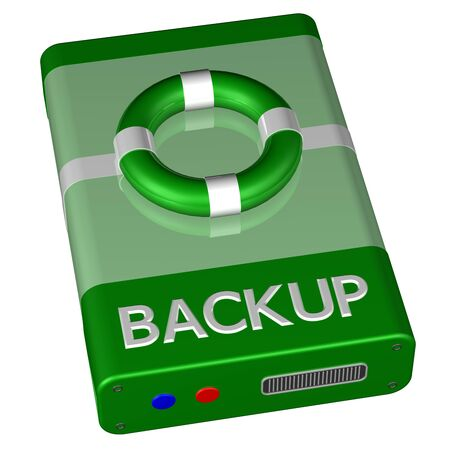 data recovery: Concept - Backup, isolated on white background. 3D render.