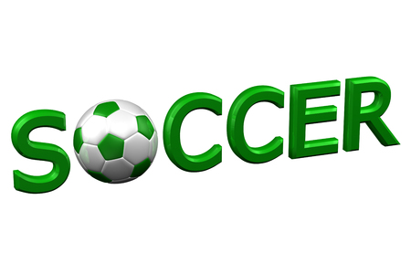 recreational pursuit: Concept: Soccer, isolated on white background. 3D render. Stock Photo