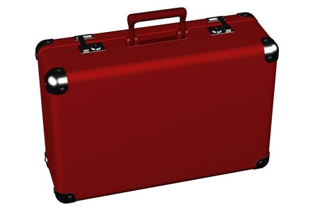 ramble: Suitcase, isolated on white background.  3D render. Stock Photo