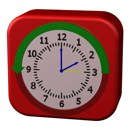 Concept - Daylight Saving Time Ends, isolated on white background. 3D render.