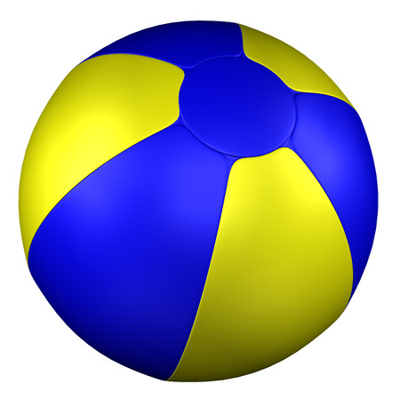 inflating: Beach Ball, isolated on white background. 3D render.
