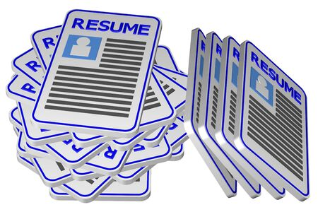 employment issues: Concept : unemployment, isolated on white background. 3D render.