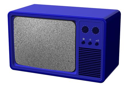 television antigua: tv de edad, aislado en fondo blanco. representación 3D. Foto de archivo