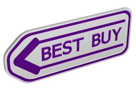 best buy: Best buy arrow, isolated on white background. 3D rendering.