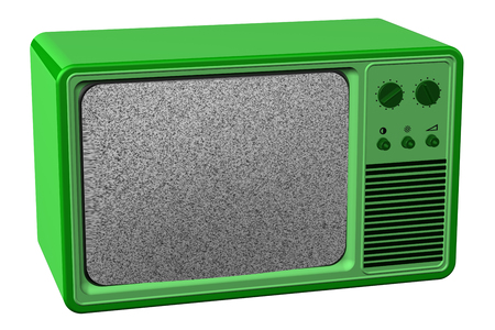 flick: Old tv, isolated on white background. 3D rendering.