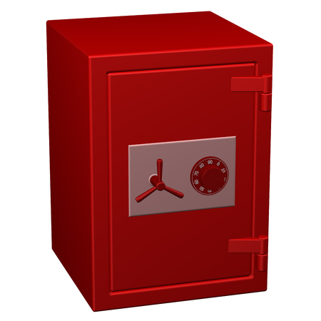Safe box, isolated on white background.  3D rendering.