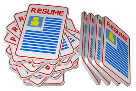workless: Concept: unemployment, isolated on white background. 3D rendering. Stock Photo