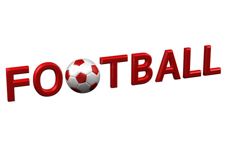 european culture: Concept: Football, isolated on white background. 3D rendering. Stock Photo
