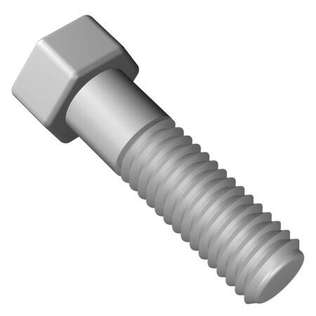 3d  bolt: Plastic bolt, isolated on white background. 3D rendering.
