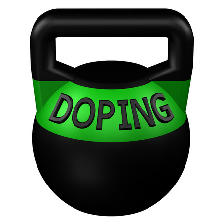 additional training: Concept: Sports doping, isolated on white background. 3D rendering.