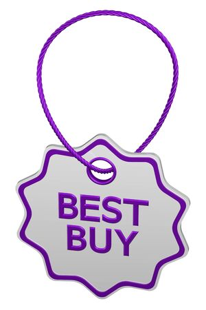 best buy: Best buy tag, isolated on white background. 3D rendering. Stock Photo