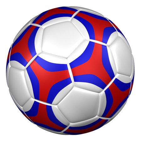 ball isolated: Soccer ball, isolated on white background. 3D rendering. Stock Photo