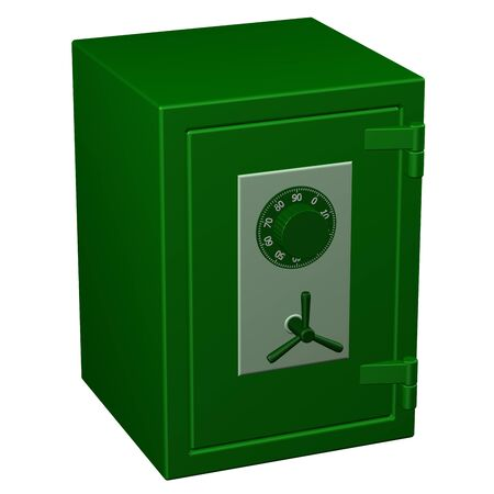 safe box: Safe box, isolated on white background. 3D rendering.