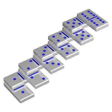 career ladder: Concept: Career ladder, isolated on white background. 3D rendering.