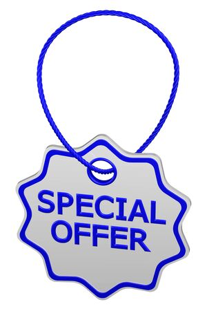 proposition: Special offer tag, isolated on white background. 3D rendering.