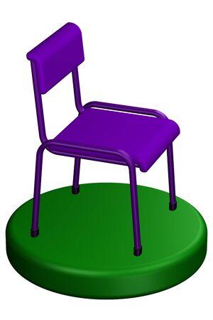sentarse: silla de oficina, aisladas sobre fondo blanco. representación 3D.