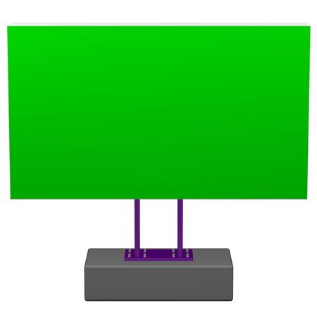 commercial activity: Concept: Billboard, isolated on white background. 3D rendering. Stock Photo