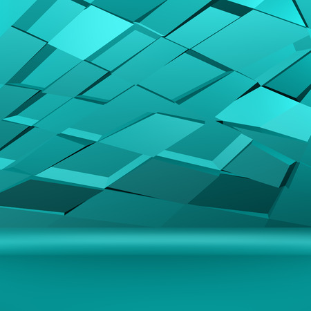 3d rendering: Turquoise abstarct background. 3D rendering. Stock Photo