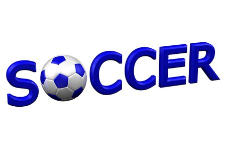 european culture: Concept: Soccer, isolated on white background. 3D rendering.