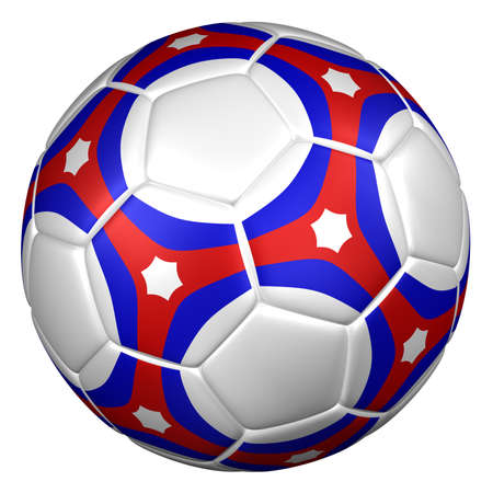 recreational pursuit: Soccer ball, isolated on white background. 3D rendering. Stock Photo