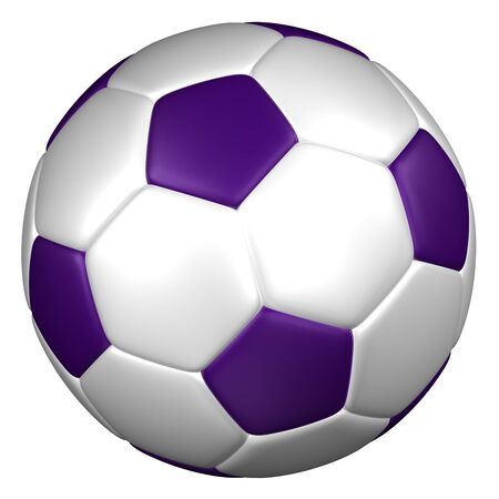 european culture: Soccer ball, isolated on white background. 3D rendering. Stock Photo