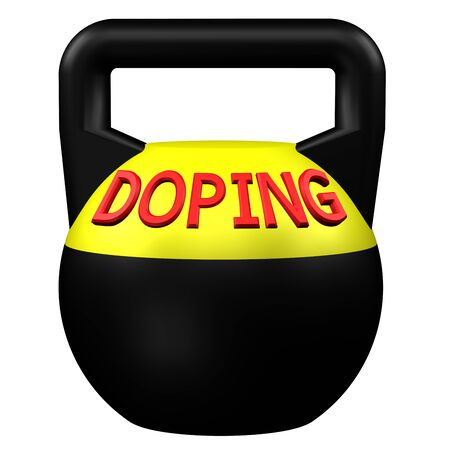 dope: Concept: Sports doping, isolated on white background. 3D rendering.