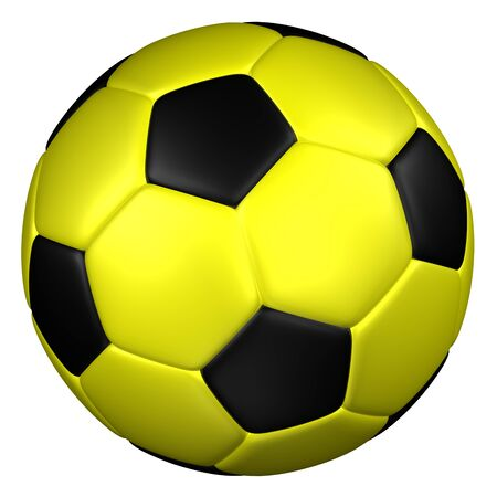 soccerball: Soccer ball, isolated on white background. 3D rendering. Stock Photo