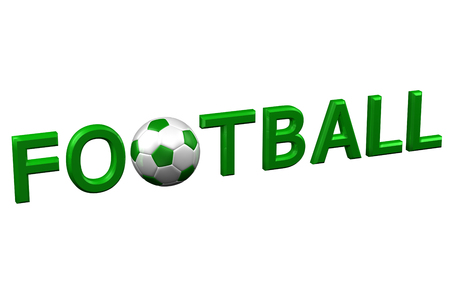 Concept: Football, isolated on white background. 3D rendering. Stock Photo