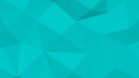 Low poly turquoise polygonal geometric surface background. Full frame. 3D rendering.