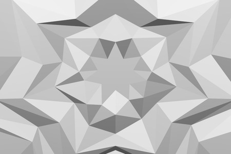 White polygonal geometric surface background - star shape on paper. 3D rendering.