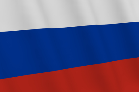 Background - Russian flag. Russian flag. 3D rendering.