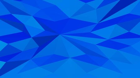Blue polygonal geometric surface background. Full frame. 3D rendering. 写真素材