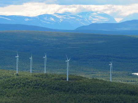 Kiruna Wind-turbines Stock Photo