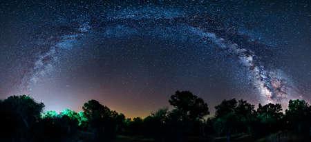 milky way: Panoramic Milky Way