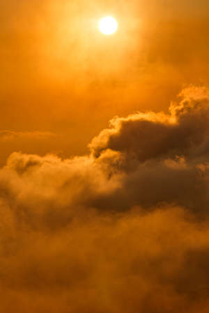 spiritual energy: Sun over the clouds at sunrise