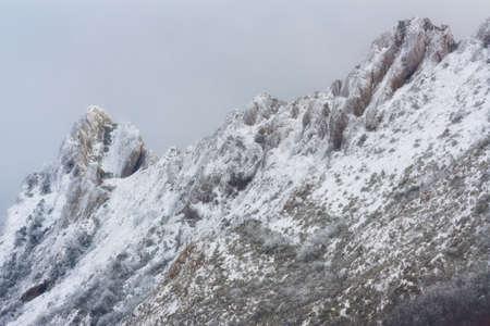 Palomares peak snowed in a cold winter