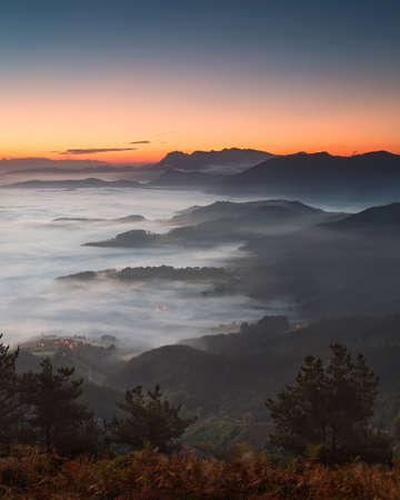 Aramaio,aramaiona valley under the clouds in Alava