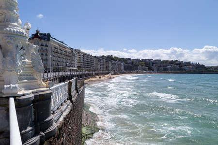 La Concha beach at San Sebastian, Donostia, Gipuzkoa
