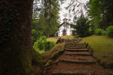 San Agustin hermitage in Artikutza, Goizueta, Navarra, Nafarroa