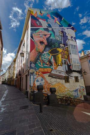 Graffiti in a building in Vitoria-Gasteiz, Spain