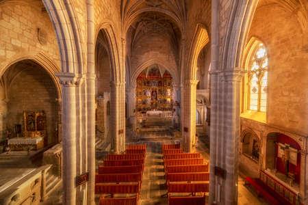 Santa Maria La Mayor church in trujillo, Caceres, Spain 版權商用圖片