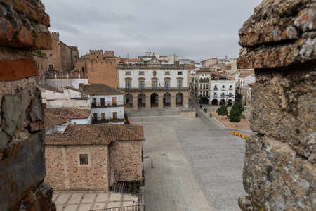 Caceres, Old and gothic village in Extremadura, Spain Stockfoto