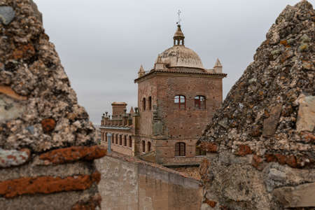 Caceres, Old and gothic village in Extremadura, Spain 版權商用圖片