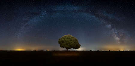 Milky way complete arch in Palencia, Spain